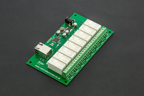 Ethernet Controlled 8 Channel Relay 16A