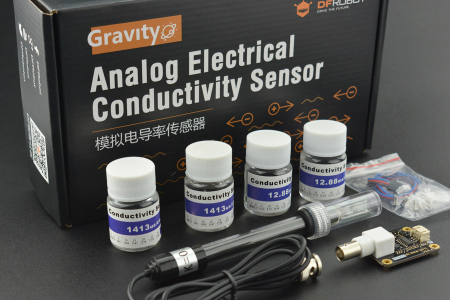 Gravity: Analog Electrical Conductivity Sensor /Meter V2 (K=1)