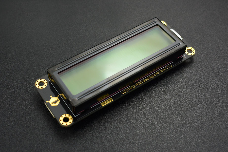 Gravity: I2C 16x2 Arduino LCD with RGB Backlight Display