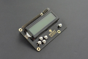 IIC 16x2 RGB LCD KeyPad HAT with RGB Backlight(Compatible with Raspberry Pi 4B/3B+)