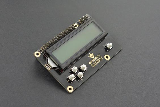 IIC 16x2 RGB LCD KeyPad HAT with RGB Backlight(Compatible with Raspberry Pi 4B/3B+)