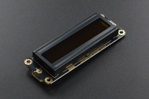 Gravity: I2C 16x2 Arduino LCD with RGB Font Display (Black)