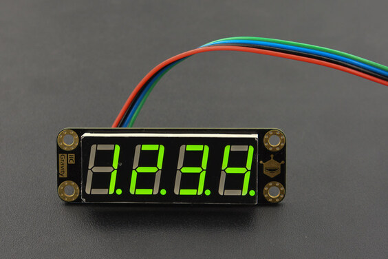 Gravity: 4-Digital LED Segment Display Module (Green)
