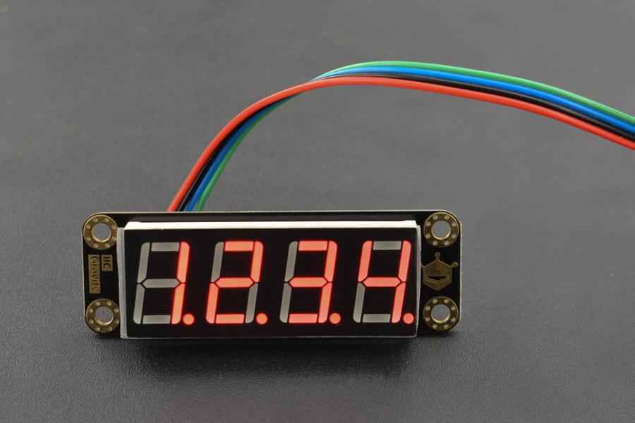 Gravity: 4-Digital LED Segment Display Module (Red)