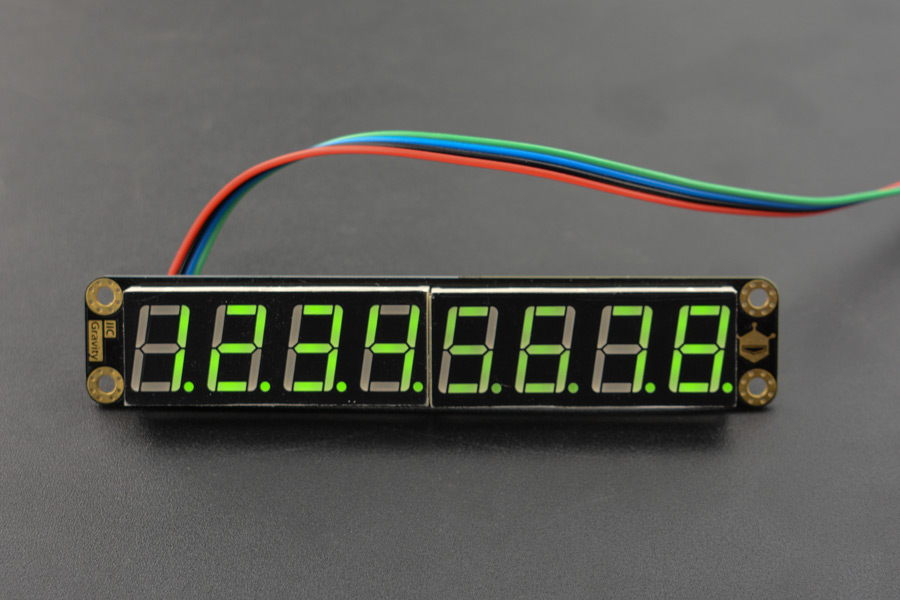 Gravity: 8-Digital LED Segment Display Module (Green)