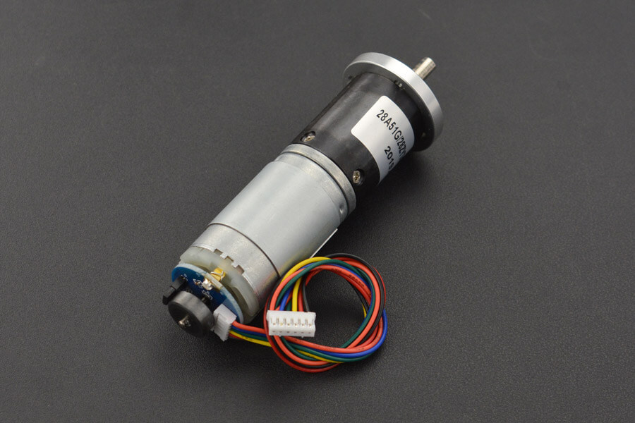 12V Low noise DC Motor 143RPM w/Encoder