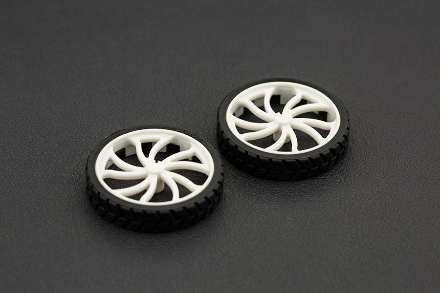 N20 ABS Rubber Wheel 43x9mm (Pair)
