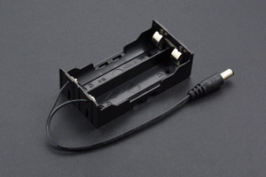 2 x 18650 Battery Holder with DC2.1 Power Jack