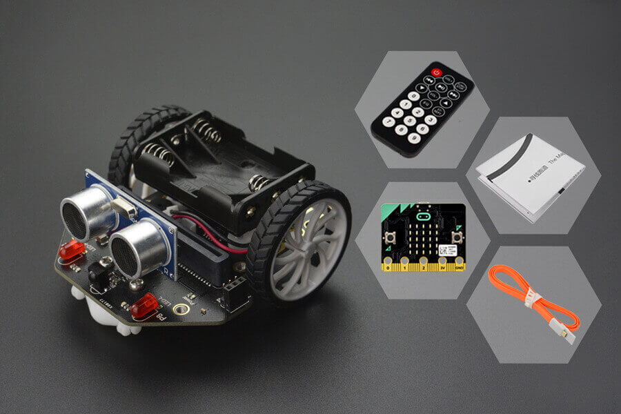 micro: Maqueen (with micro:bit/IR Remote Controller)