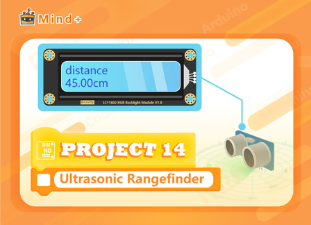 Ultrasonic Rangefinder | MindPlus Coding Kit for Arduino Started Tutorial E14