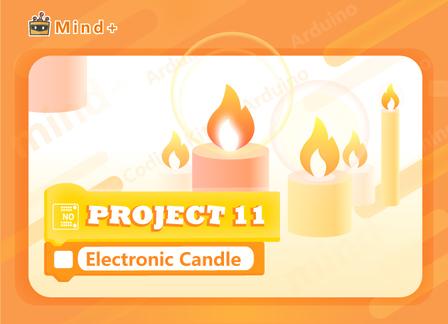 Electronic Candle | MindPlus Coding Kit for Arduino Started Tutorial E11