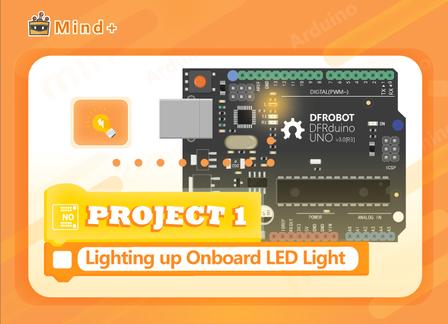 Lighting up Onboard LED Light | MindPlus Coding Kit for Arduino Started Tutorial E01