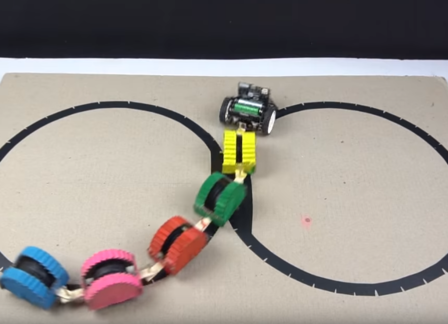 ULine follower robot - Micro: bit robot project - How to make a Snake Robotntitled