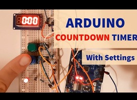 Arduino Countdown Timer With Settings