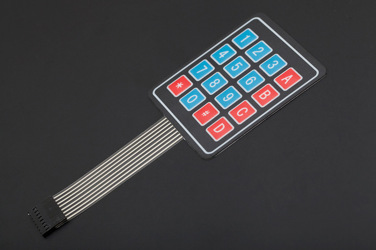 Sealed Membrane 4*4 button pad with sticker-DFRobot