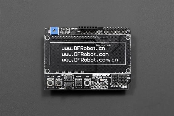 Gravity: PCB of Arduino LCD Keypad Shield