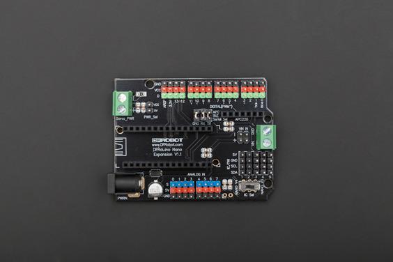 Gravity: Nano I/O Shield for Arduino Nano