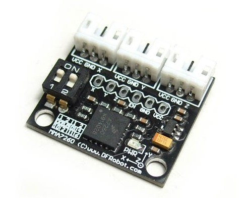 Gravity: Analog Triple Axis Accelerometer MMA7260 (Discontinued)
