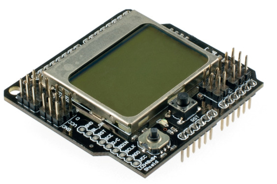 Graphic LCD4884 Shield For Arduino