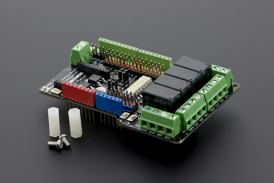 Gravity: 4 Channel Relay Shield for Arduino