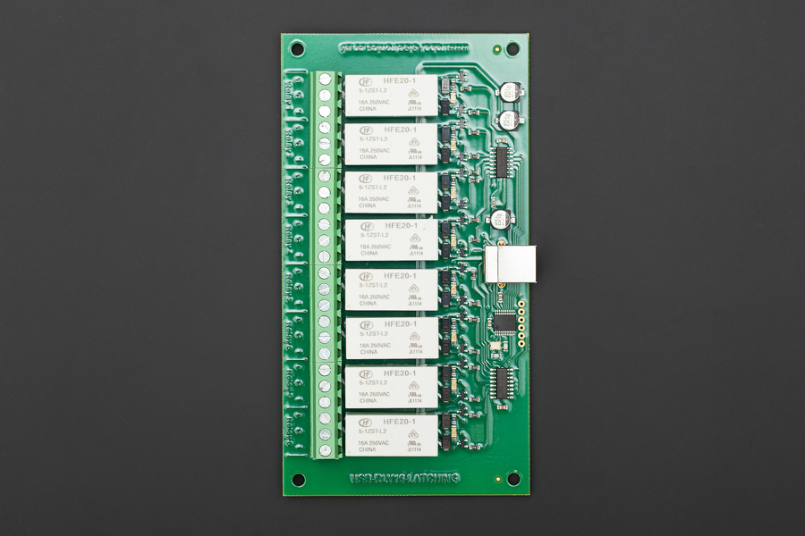 8 Channel Relay Module (USB-RLY16L, Low Power Version, Up to 16Amp)