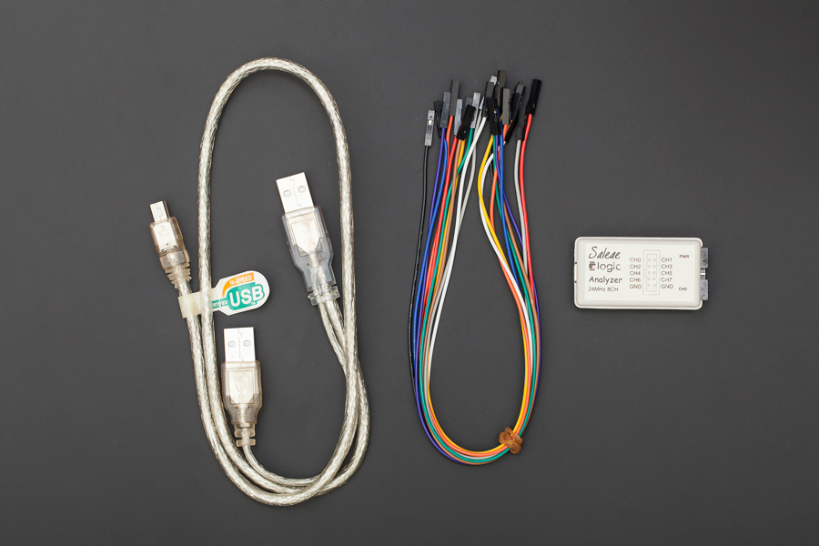 24Mhz 8 Channel Logic analyzer (Saleae Logic Compatible)(Discontinued)