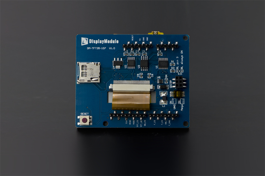 "3.5"" TFT Resistive Touch Shield with 4MB Flash for Arduino and mbed"