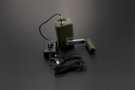 Portable Hand Crank Power Generator with Voltage Regulator