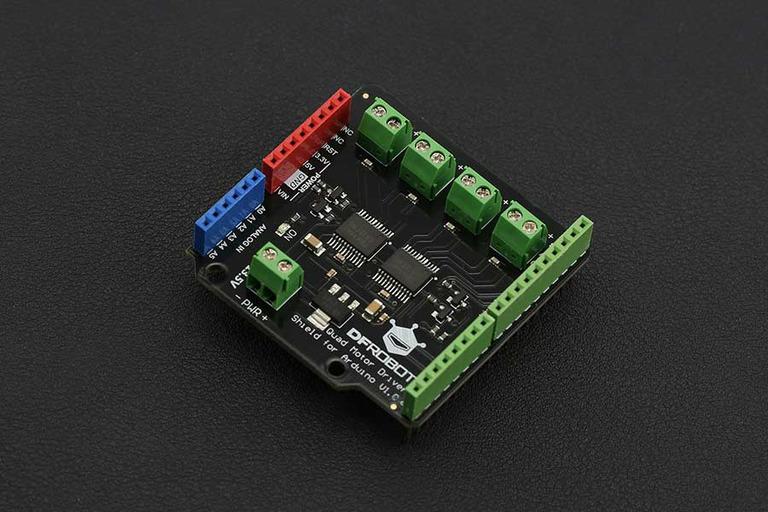 Arduino Quad DC Motor Driver Shield -DFRobot