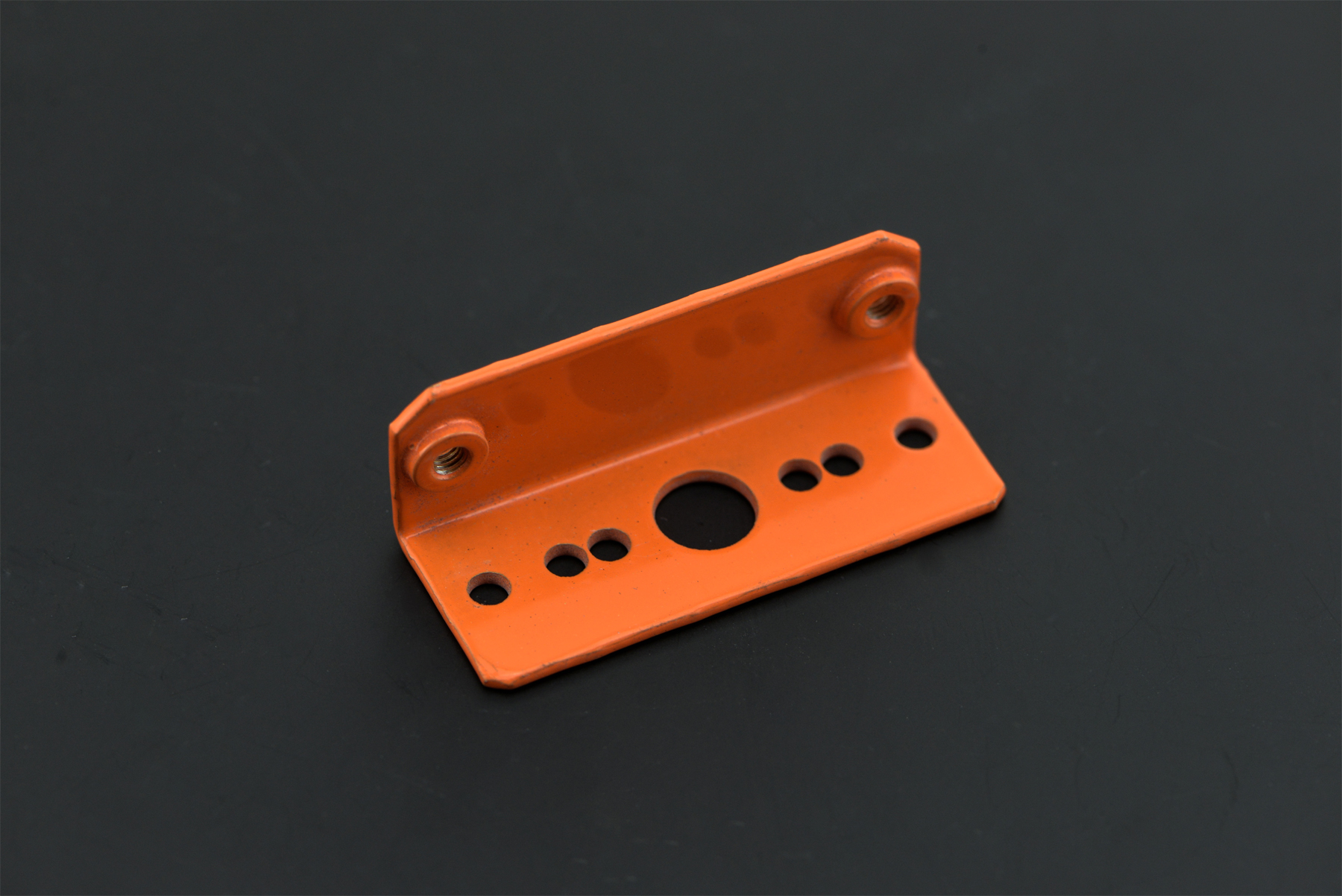 Sharp IR Sensor Mounting Bracket - GP2Y0A21/GP2Y0A02YK (Orange)