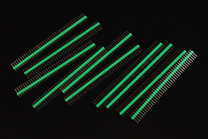 0.1″ (2.54 mm) Arduino Male Pin Headers (Straight Green 10PCS)