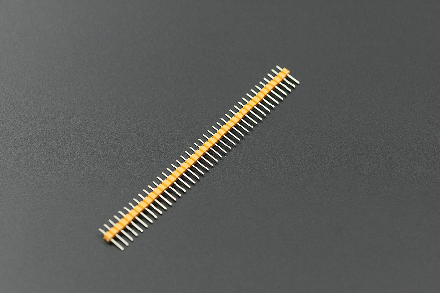 0.1″ (2.54 mm) Arduino Male Pin Headers (Straight Yellow 10pcs)