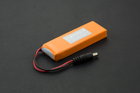 7.4V Lipo 2500mAh Battery (Arduino Power Jack) (Discontinued)