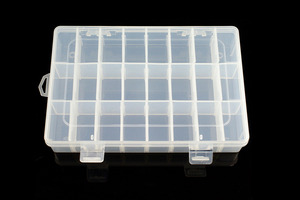 Adjustable Compartment Parts Box  - 24 Compartments
