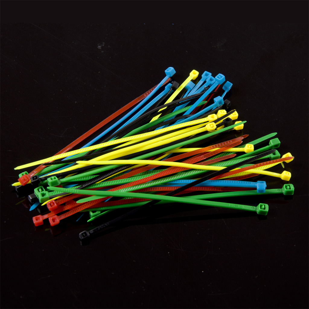 Nylon Cable Tie Set - Five Colors (50PCS)