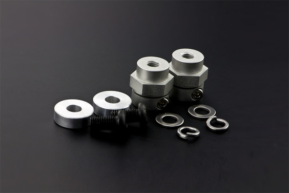 5mm Rubber Wheel Coupling Kit (Pair)(Discontinued)