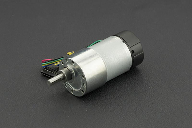 Metal DC Geared Motor w/Encoder - 12V 122RPM 38Kg.cm