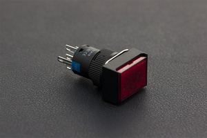 Self Locking Lamp Press Button- Red