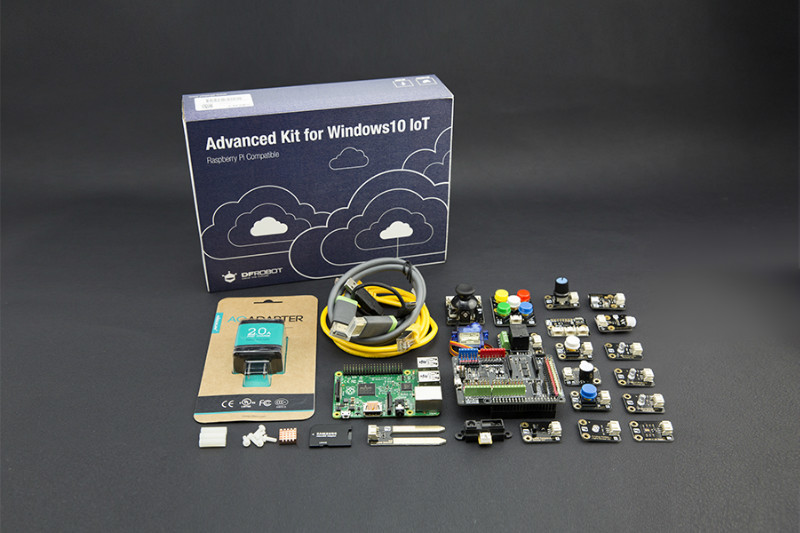 Gravity: Advanced Kit for Raspberry Pi 2 (Windows 10 IoT Compatible)