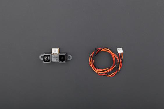 Gravity: Sharp GP2Y0A02YK IR Ranger Sensor (20-150cm) (Discontinued)