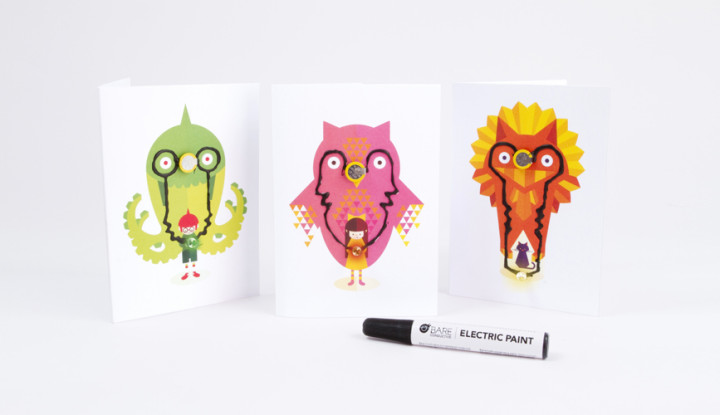 Flashing Card Set - Power Animals