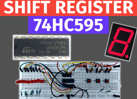 74HC595 Shift Register Tutorial | Arduino with 7 segment