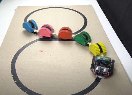 Line follower robot - Micro: bit robot project - How to make a Snake Robot