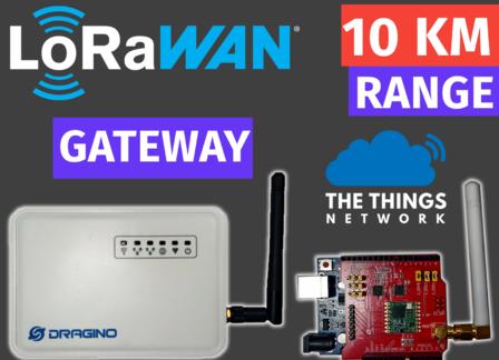 LoRaWAN Setup using Dragino Gateway and TheThingsNetwork