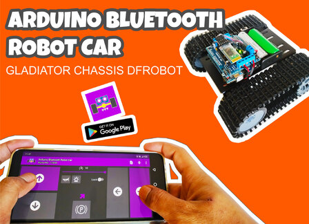 Arduino Robot Car Bluetooth Controlled and Programmed With Android