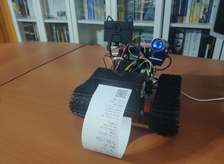 Web-Enabled ML Mask Detection Robot Fines w/ Penalty Receipt