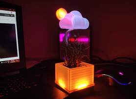 DIY Weather Station In The Form Of Desk Plant.