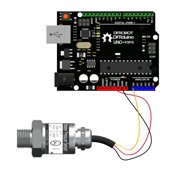 SEN0257 Analog Module Connection Diagram