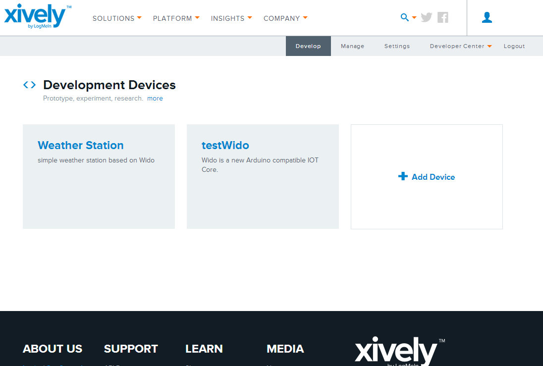 Fig1: Create Xively Account