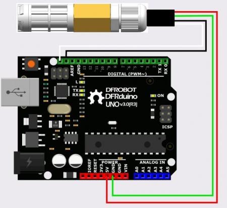 SEN0227 SHT20 I2C Temperature & Humidity Sensor Connection Diagram